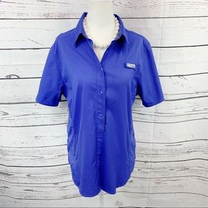Columbia PFG Tamiami II Purple Outdoor Shirt